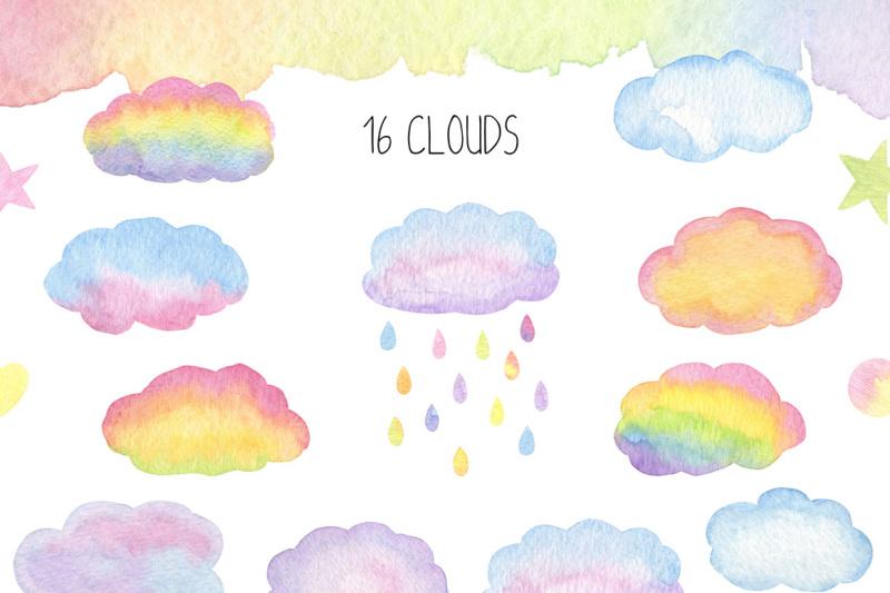 magical-unicorn-watercolor-set-unicorn-face-clipart-rainbow-clipart