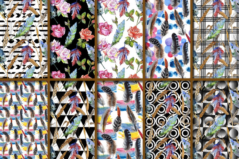 100-patterns-of-feather-jpg-watercolor-set