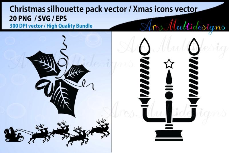 x-mas-svg-silhouettes-christmas-svg-silhouette-bundle-xmas-icon