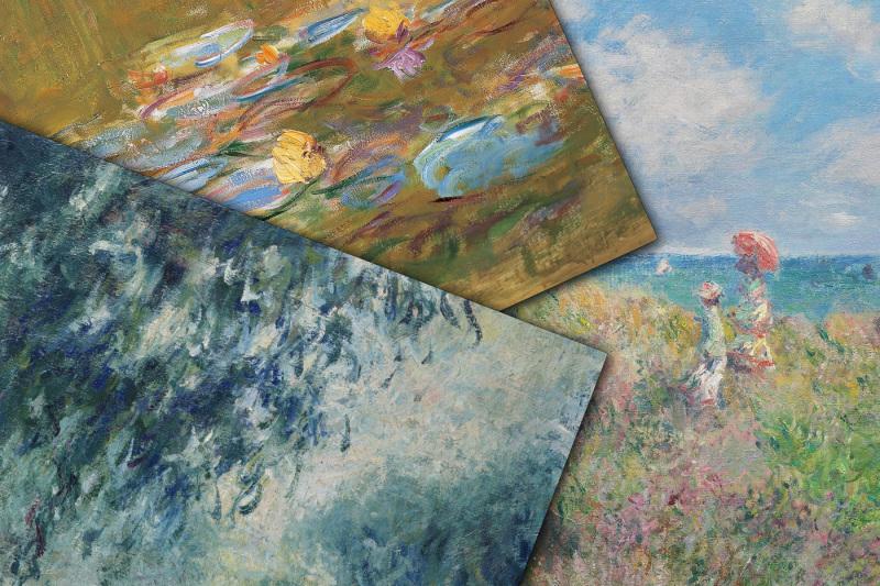 claude-monet-paintings-digital-paper