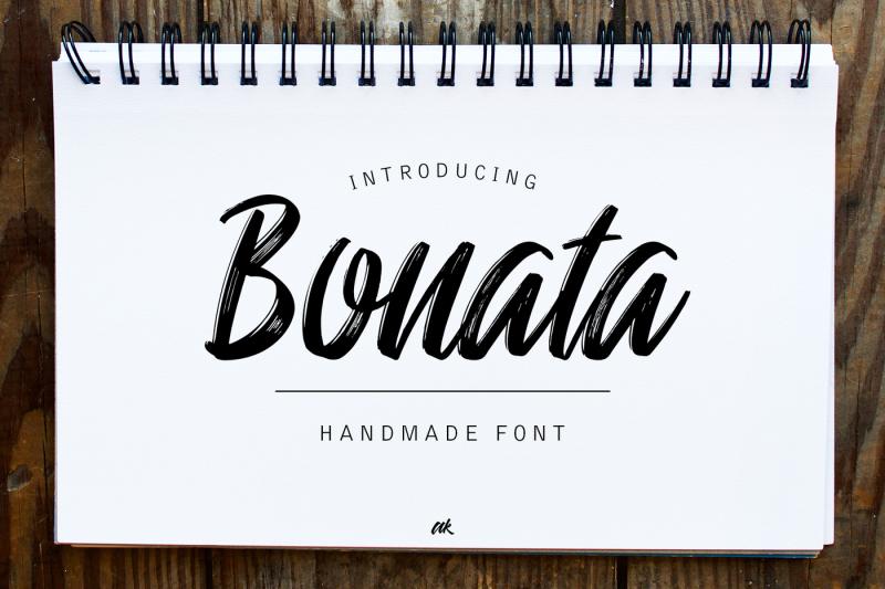 bonata-handmade-font