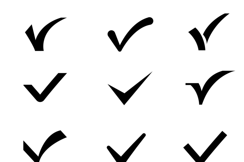 confirm-tick-mark-vector-icons-set