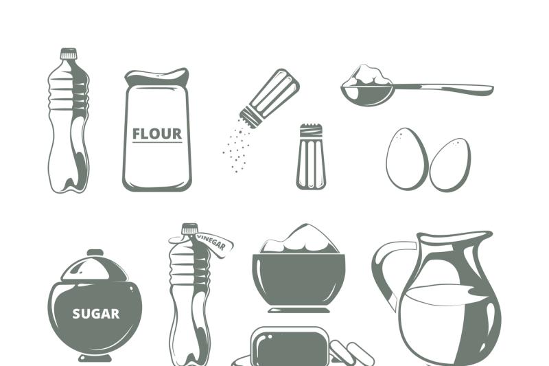 baking-ingredients-monochrome-vector-set