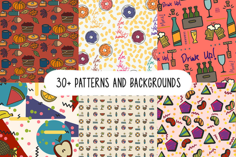 pack-of-30-patterns-amp-backgrounds-70-elements