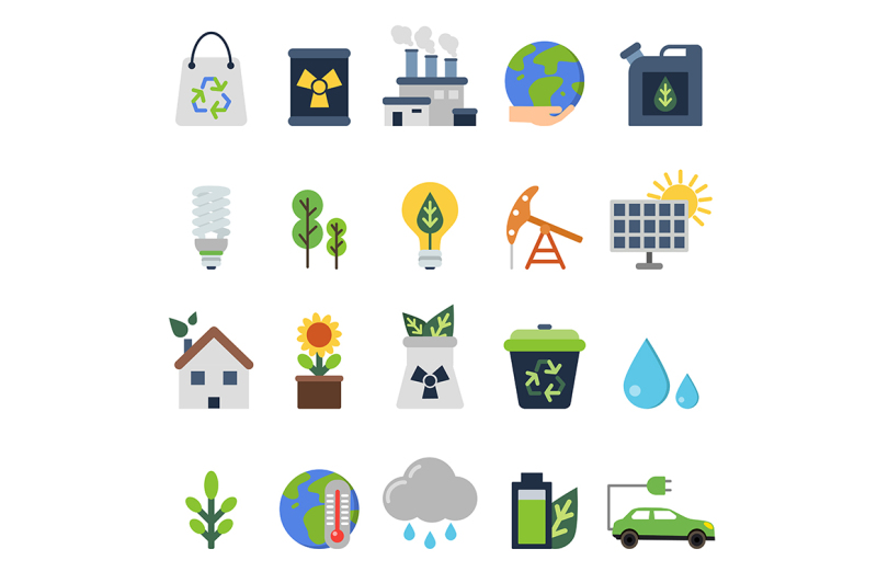 vector-icons-set-on-ecology-theme
