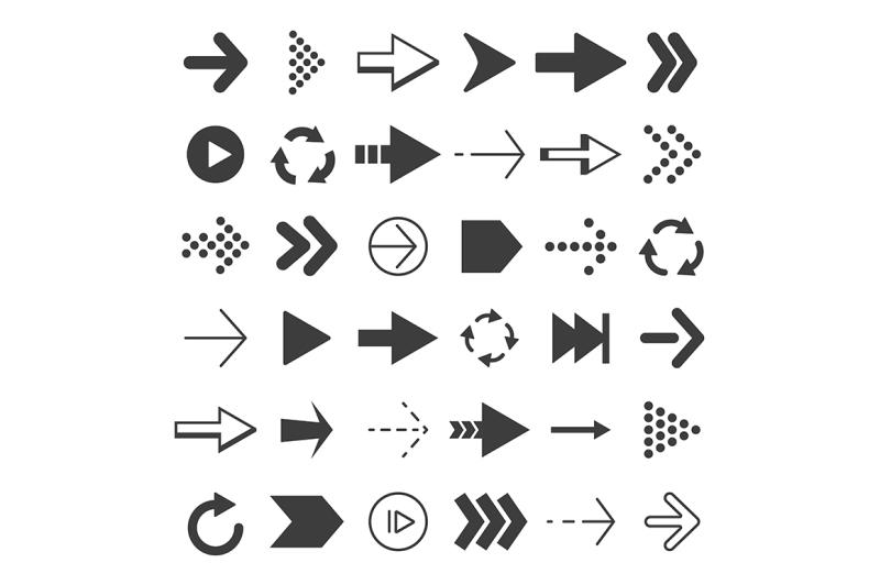 black-arrows-set
