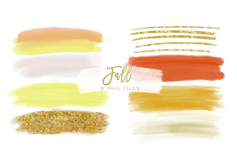 autumn-brush-strokes-clip-art-hand-painted-clip-art-digital-planner
