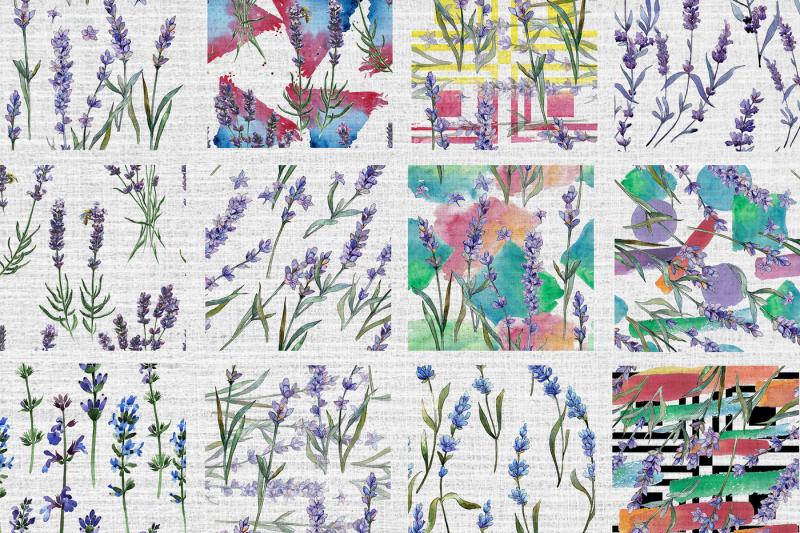 100-patterns-of-lavender-flower-jpg-watercolor-set