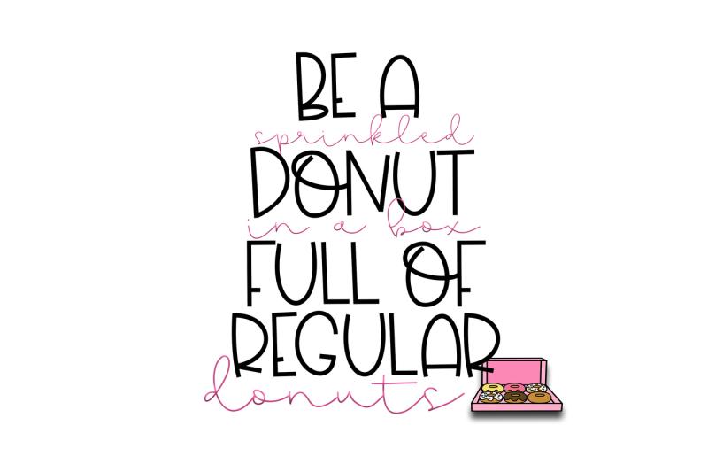 sprinkled-donut-a-handwritten-font