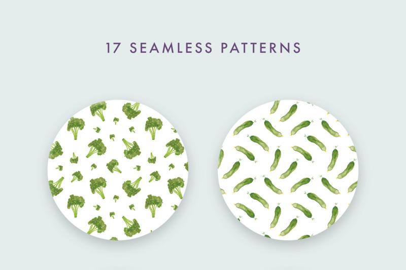 watercolor-veggie-patterns