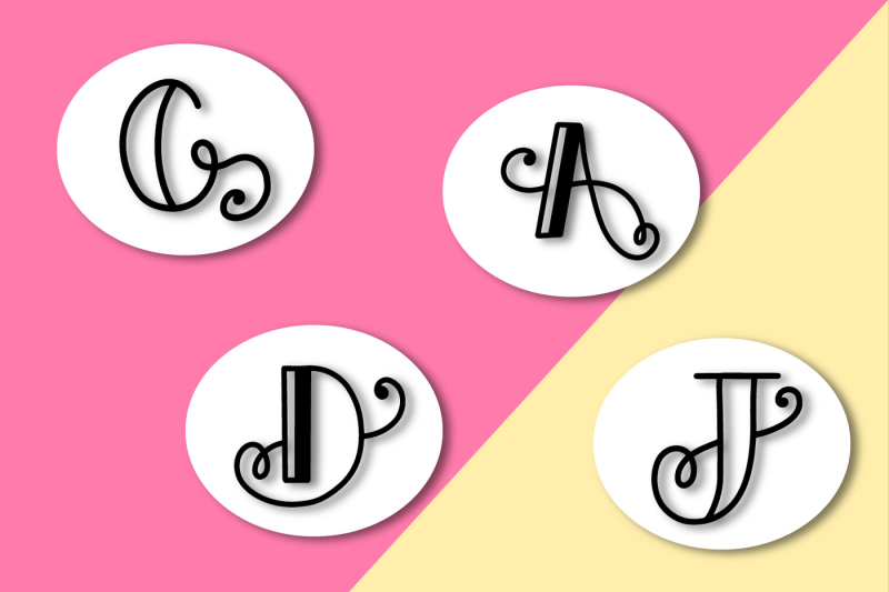 initially-a-monogram-initial-font