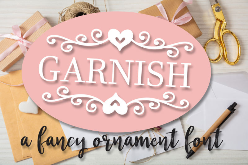 garnish-a-fancy-ornament-font-with-monogram-frames
