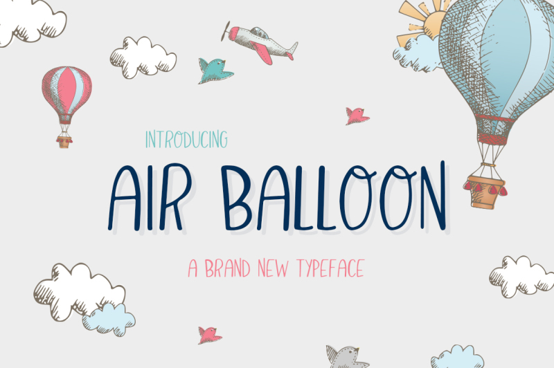 air-balloon-font