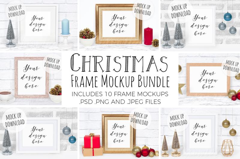 christmas-frame-mockup-bundle
