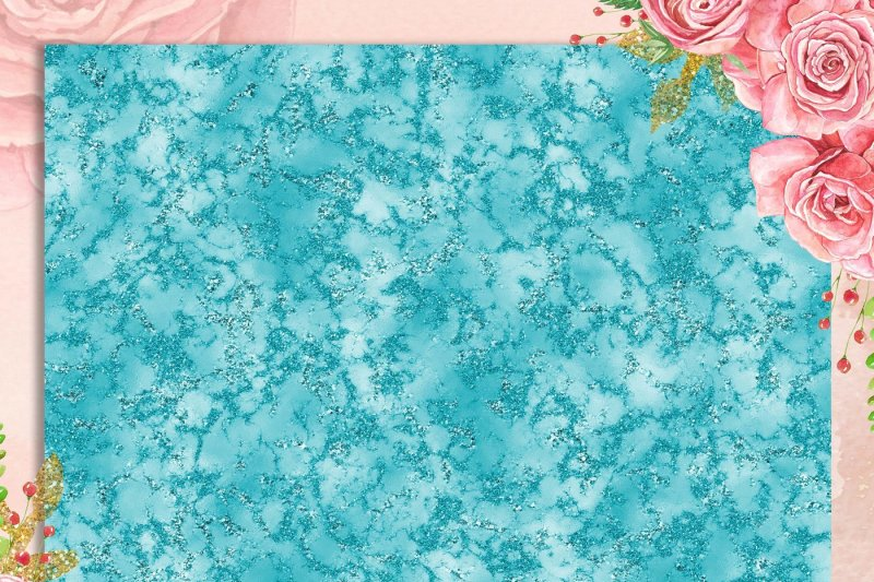 16-teal-marble-digital-papers-glitter-marble-foil-marble
