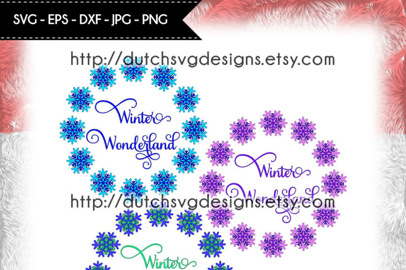 Get Winter Wonderland Cut File Svg Jpeg DXF