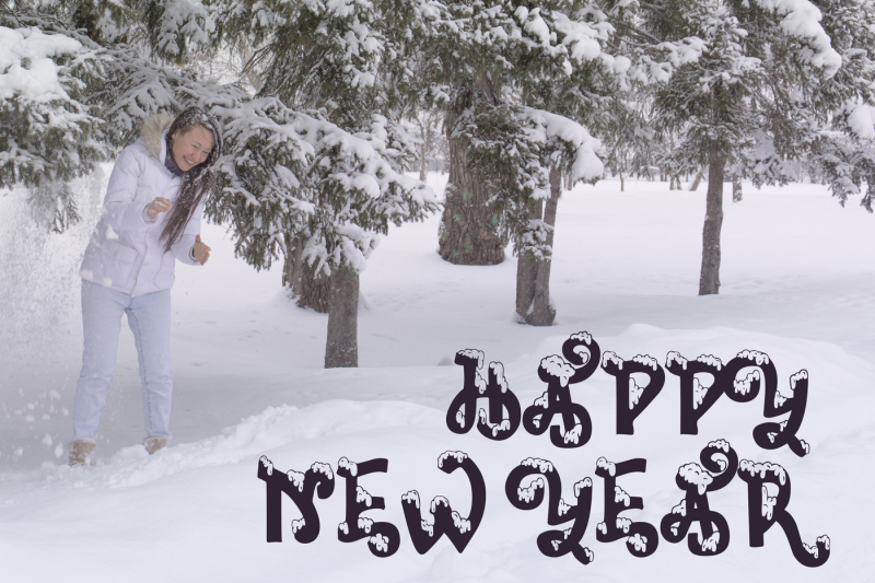 snow-covered-display-font