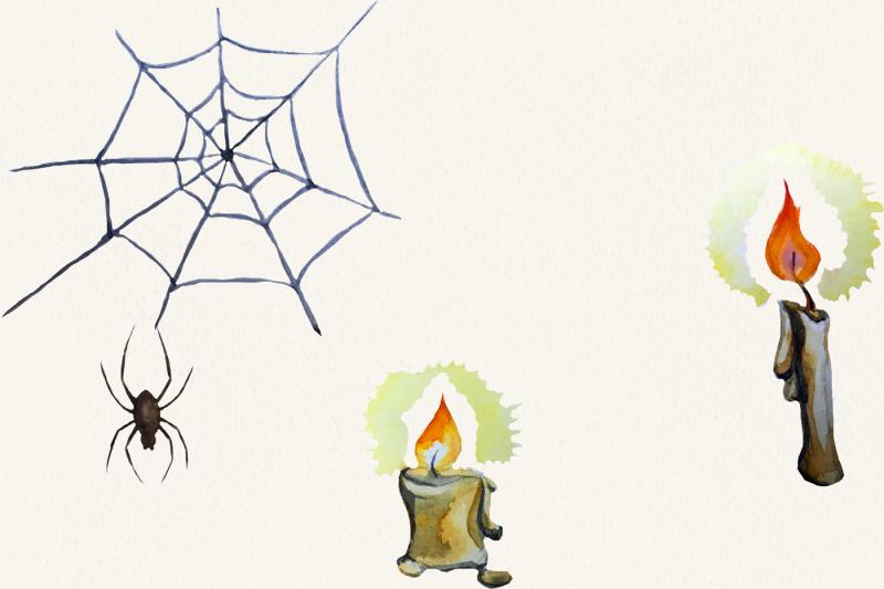 halloween-watercolor-clipart