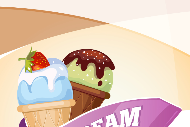 delicious-ice-cream-vector-vintage-poster-template