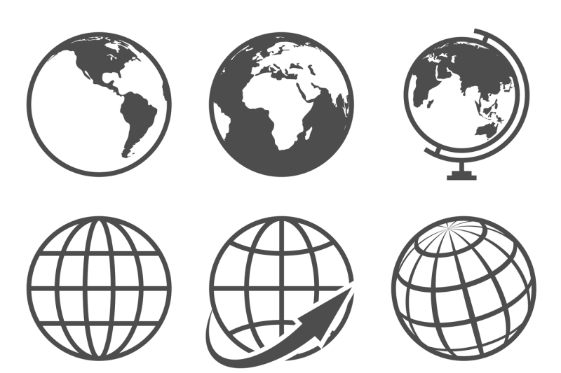 globe-earth-vector-icons-set