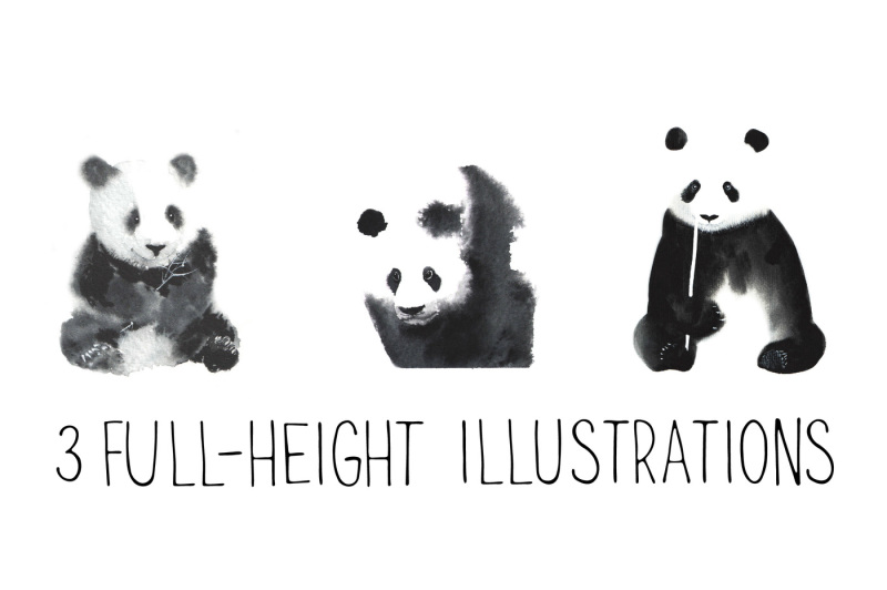 watercolor-pandas