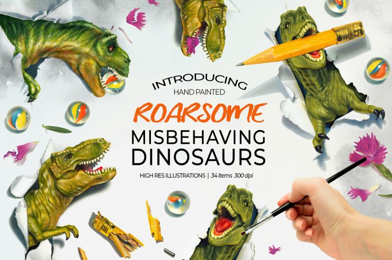 dinosaur-misbehaving-roarsome-t-rex