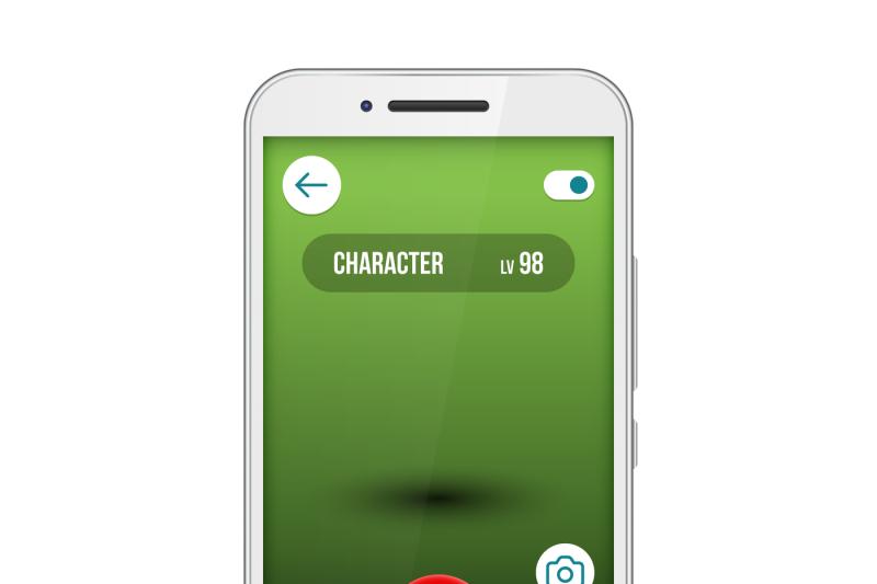 go-game-app-screen-smartphone-vector-interface