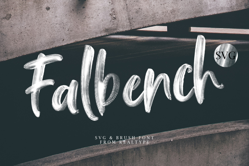falbench-svg-and-brush-font