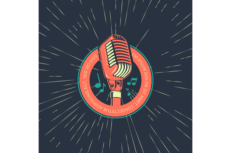karaoke-music-club-bar-audio-record-studio-vector-logo