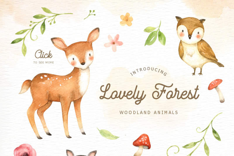 lovely-forest-watercolor-clip-art