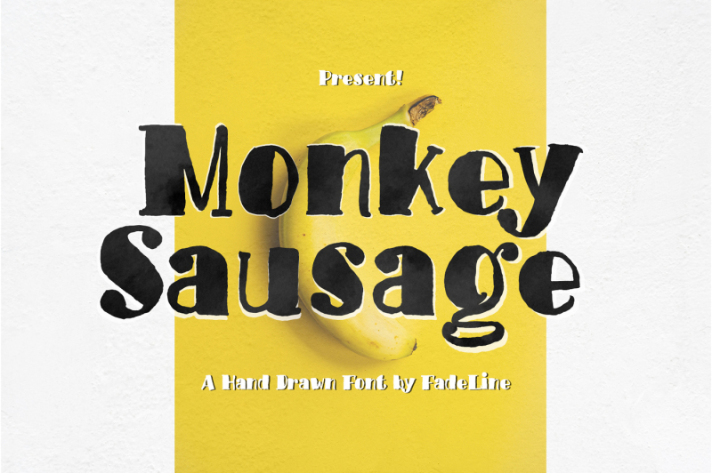 monkey-sausage-funny-font