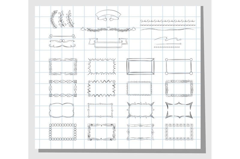 school-hand-drawn-frames