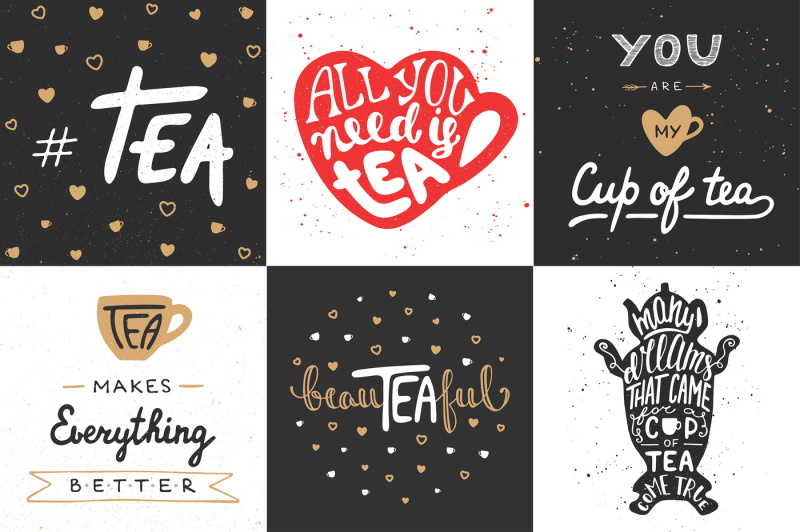 tea-hand-drawn-lettering-and-posters