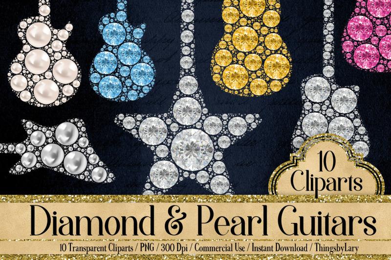 10-diamond-and-pearl-guitar-clip-arts