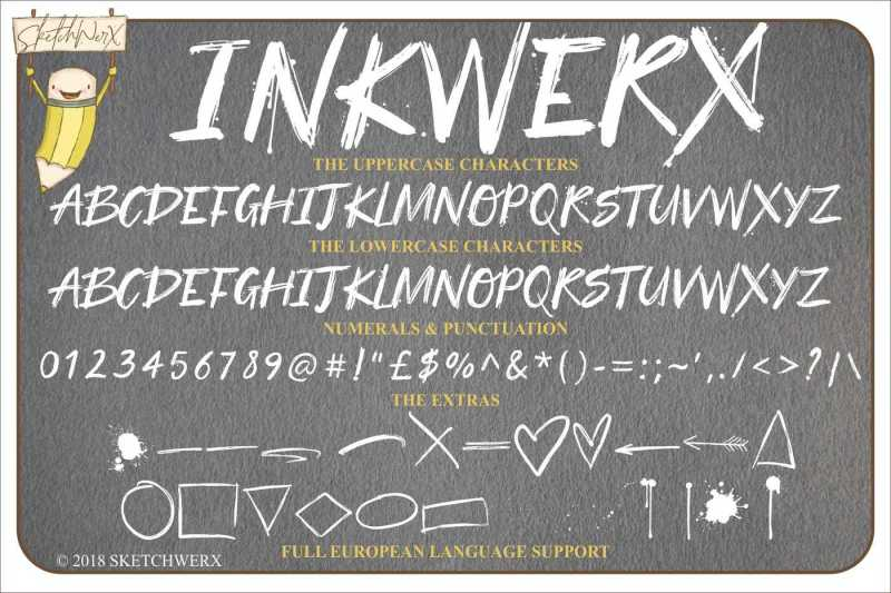 inkwerx-font-and-extras