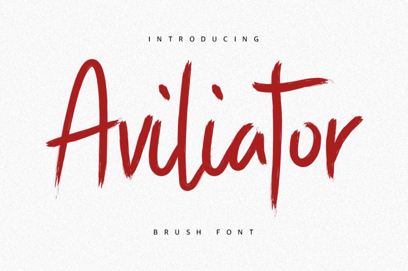 aviliator-brush-font
