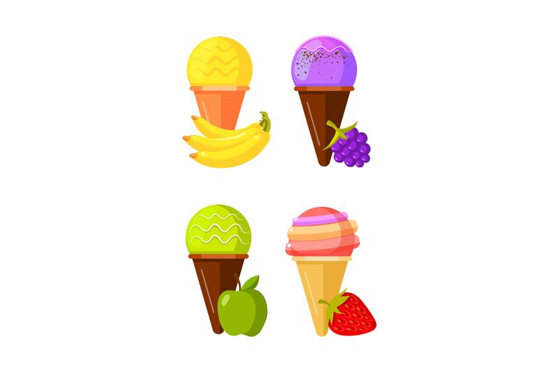 four-fruit-ice-cream-strawberry-apple-blackberry-and-banana