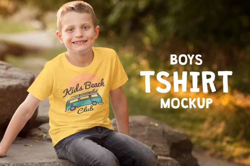 Free Boys T-shirt Mock-up (PSD Mockups)