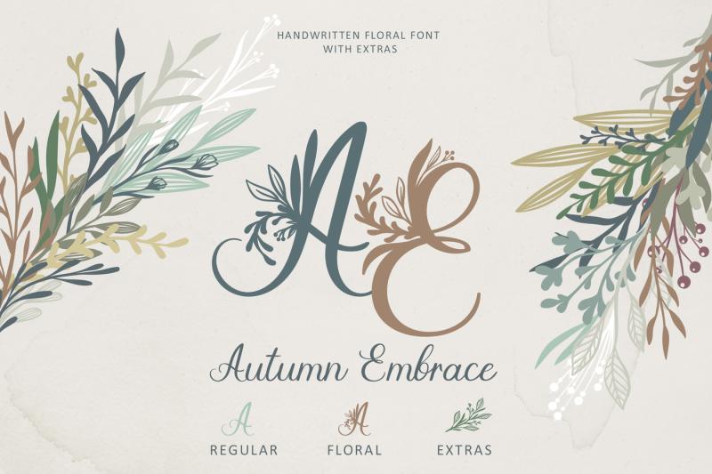 autumn-embrace-floral-font-extras