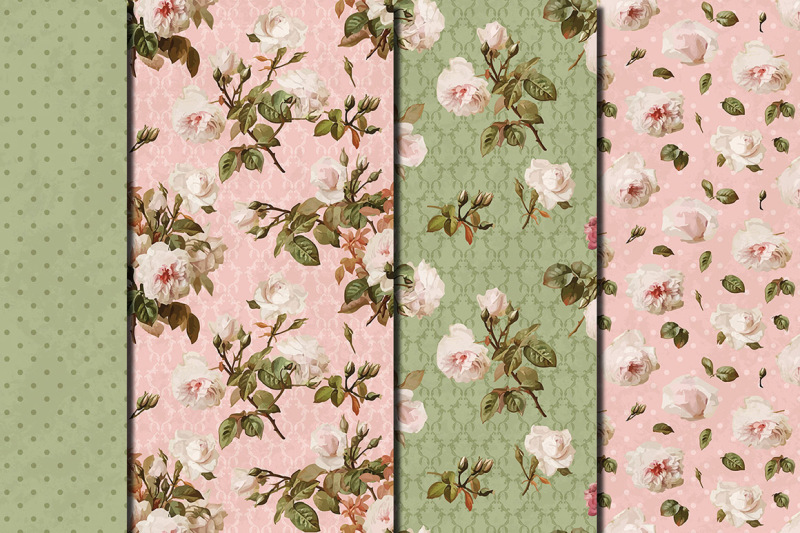 shabby-chic-pink-roses-seamless-digital-paper-pack