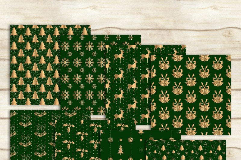 24-luxury-green-and-gold-holiday-christmas-digital-papers