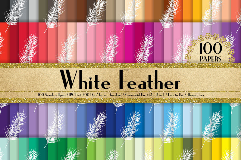 100-seamless-white-feather-digital-papers-12-x-12-inch
