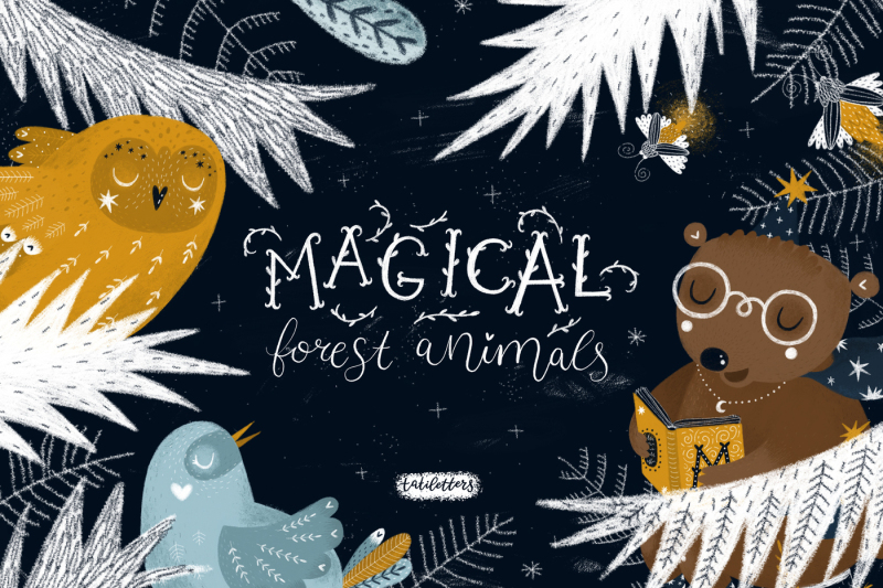 magical-forest-animals