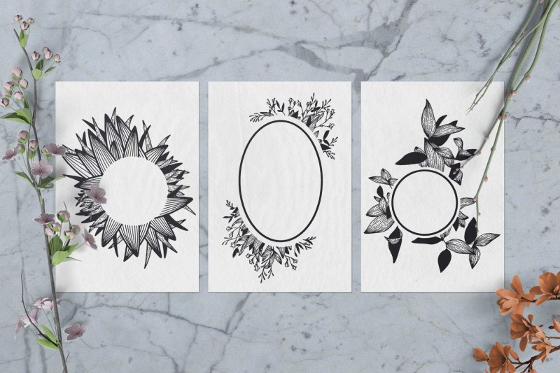 100-hand-drawn-elements-floral