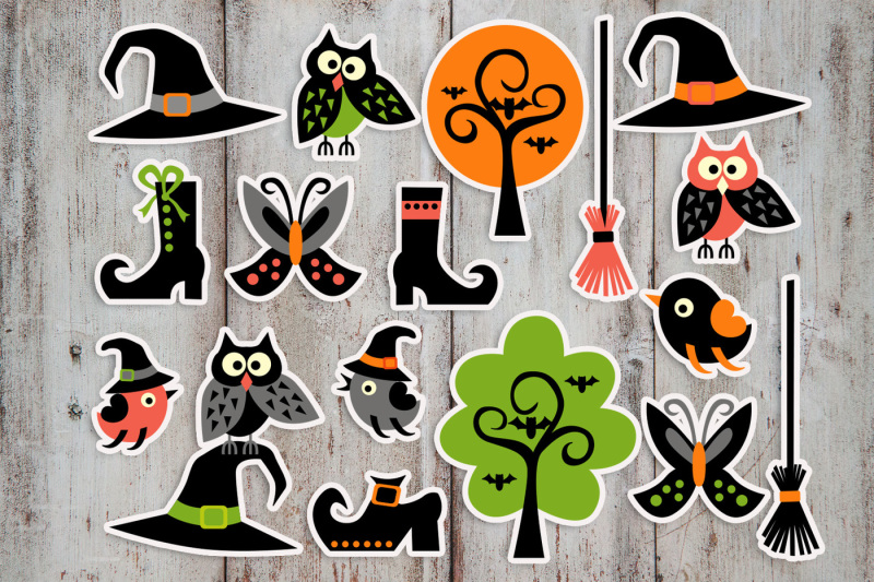 halloween-graphics-owls-witch-hat-boots-broom
