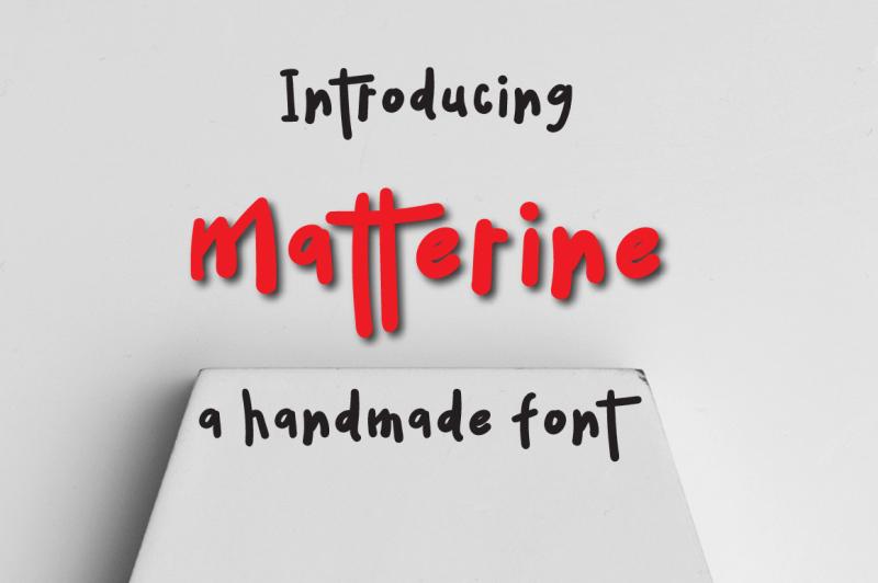 matterine-typeface