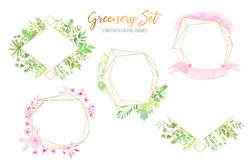 watercolor-greenery-floral-set