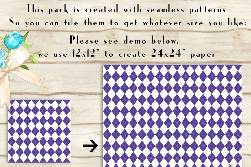 100-seamless-argyle-digital-papers-geometric-pattern