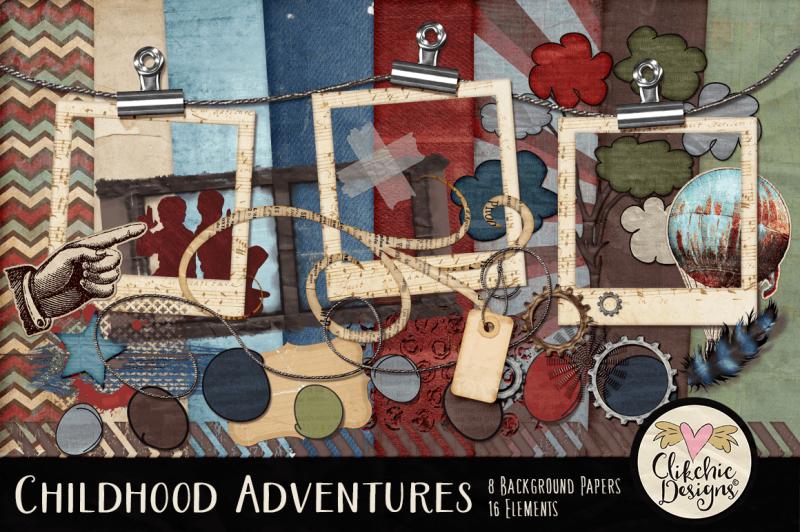 childhood-adventures-digital-scrapbook-kit