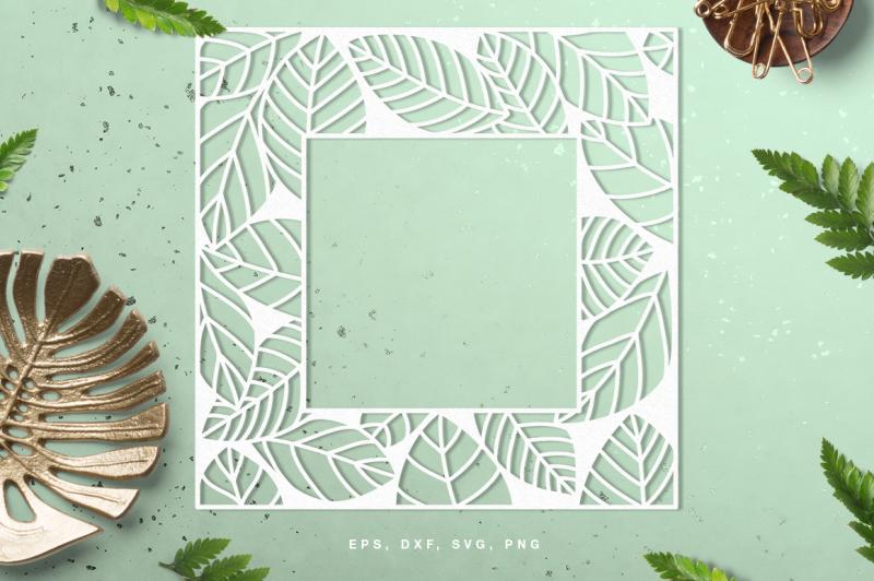 leaf-frame-digital-cut-file-svg-dxf-png-eps
